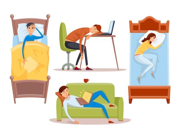 Спящая молодая женщина дома иллюстрации.