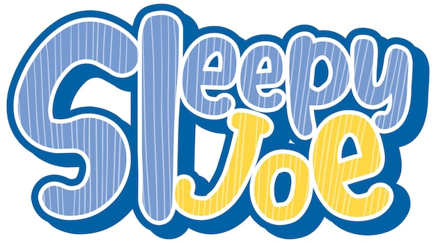 スリーピージョーのロゴのテキストデザイン