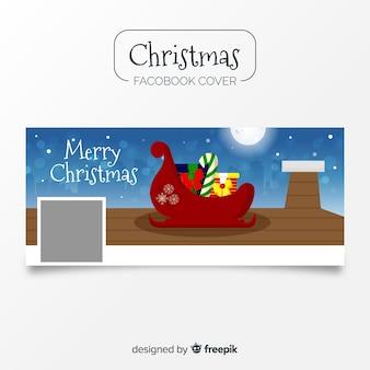 Sleigh christmas facebook cover