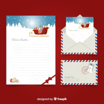 Sleigh christmas letter template