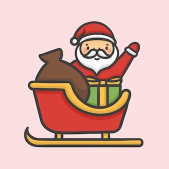 クリスマスサンタクロースsleigh