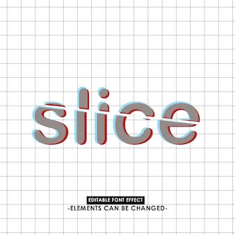 Slice anaglyph text effect