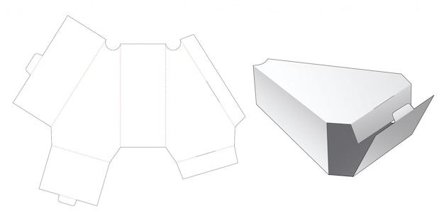 슬라이스 케이크 상자 다이 컷 템플릿 디자인