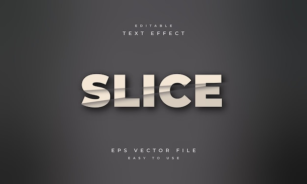 Slice editable text effect with cut style