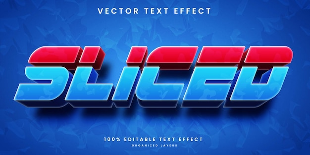 Slice editable text effect with gradient colors