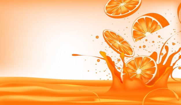 Нарежьте апельсины, попадая в сок