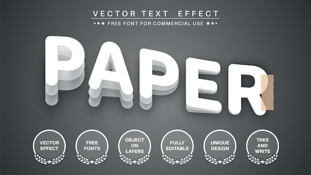 Slice paper  edit text effect font style
