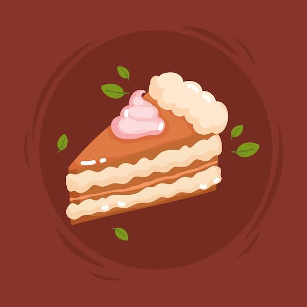 달콤한 케이크 슬라이스