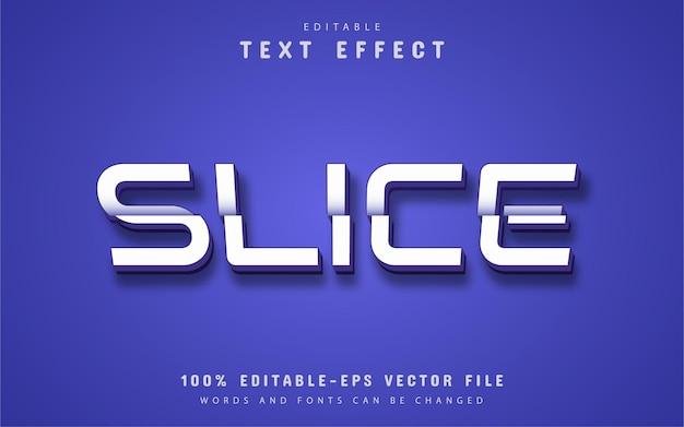 Slice text, editable 3d text effect