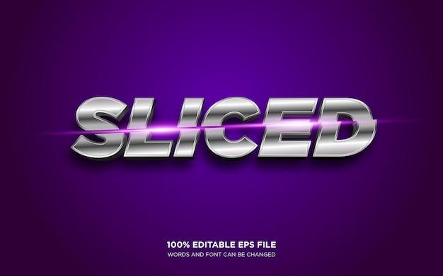 Sliced 3d editable text style effect