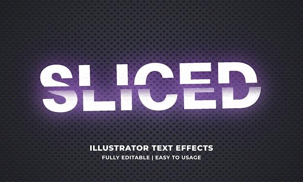 Sliced editable text effect