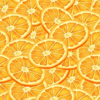 Sliced orange seamless background