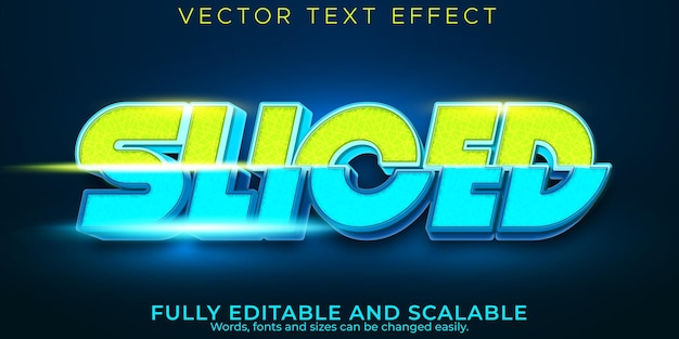 Эффект нарезанного спортивного текста, редактируемый стиль текста игры и киберспорта