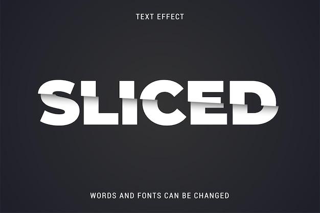 슬라이스 텍스트 효과 100 편집 가능한 벡터 이미지