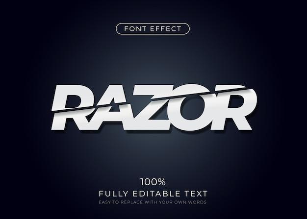 얇게 썬 텍스트 효과. 편집 가능한 글꼴 스타일