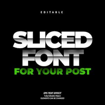 Нарезанный белый текстовый эффект editable premium