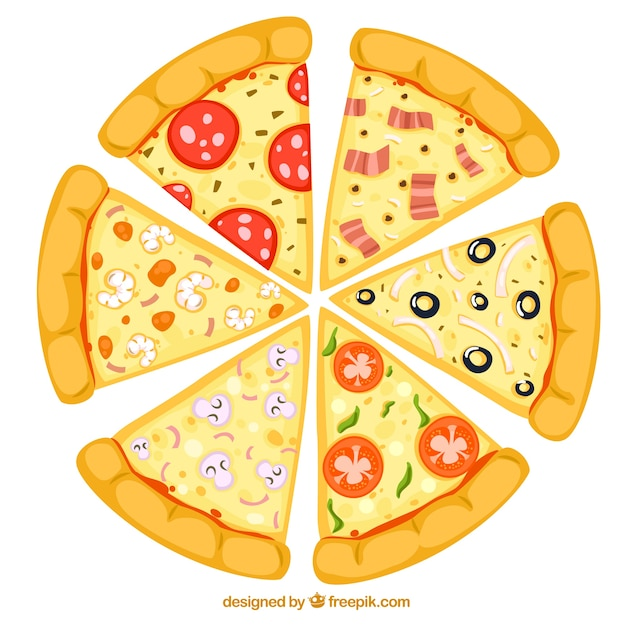 Slices of pizza