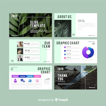 Slide presentation template