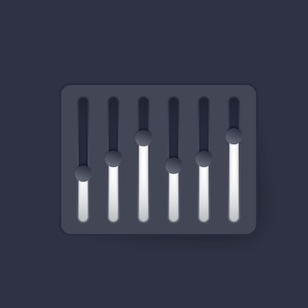 Slider bar, vector design