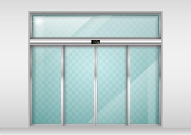 Раздвижные стеклянные автоматические двери