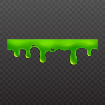 Slime or goo sticky toxic liquid  illustration  on white background.