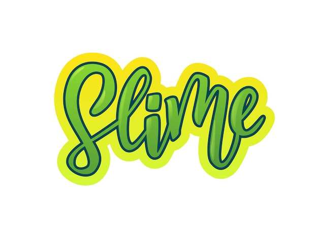 Slime hand lettering text