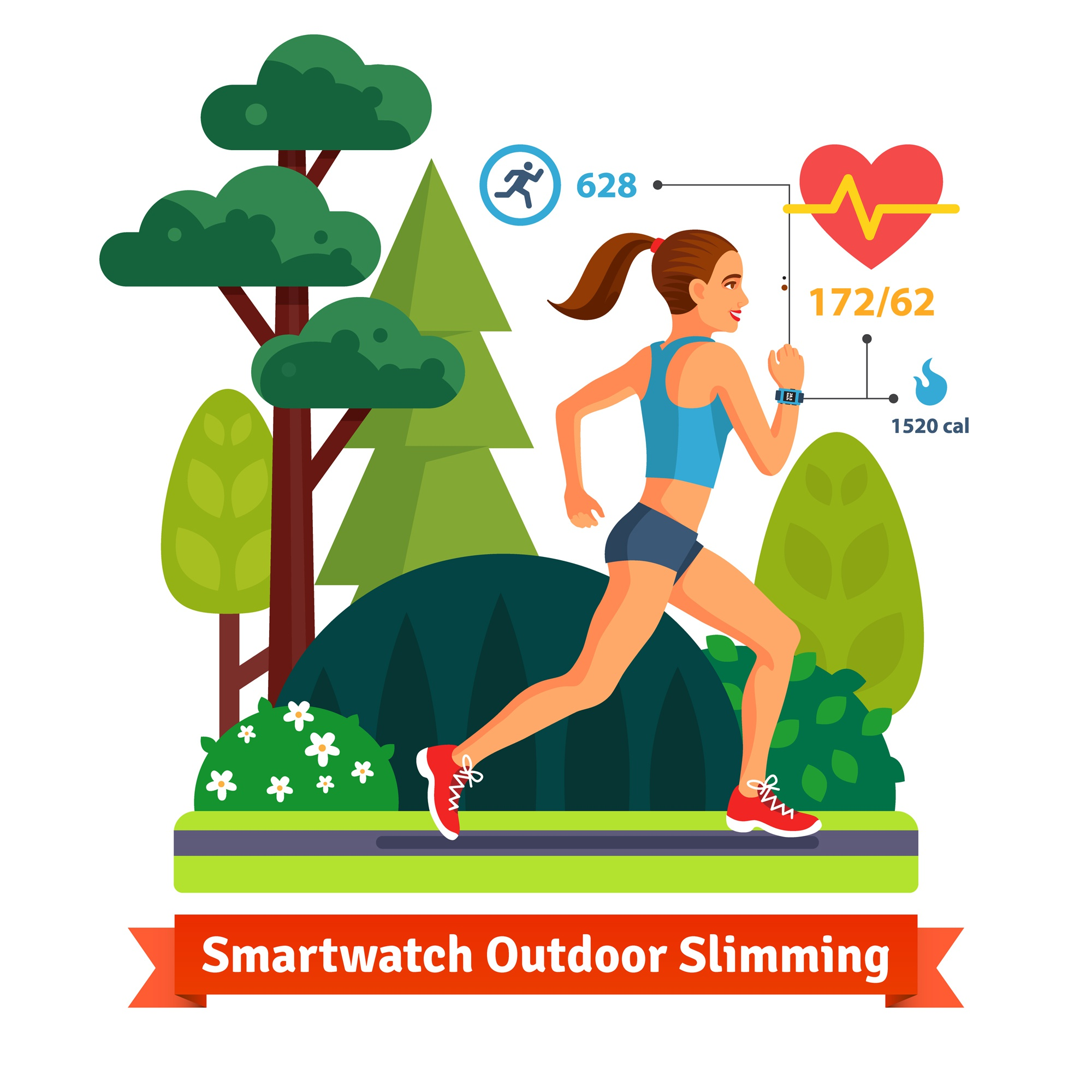 Slimming woman running in the park