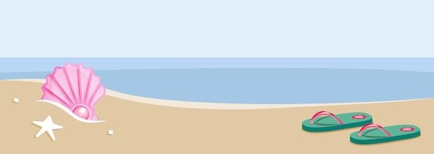 ビーチのスリッパ
