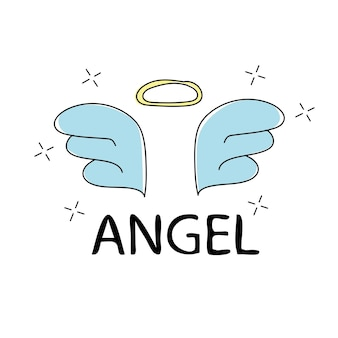 スローガン天使のベクトル印刷。 tシャツグラフィック用-かわいいシンプルなテキスタイルグラフィック