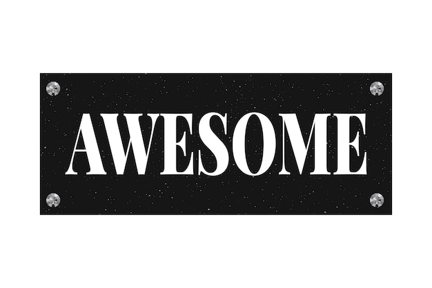Slogan awesome phrase