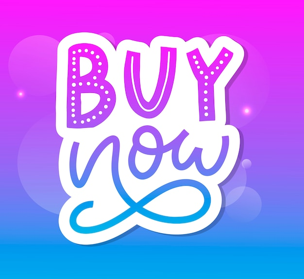 Slogan buy now letter for web design.