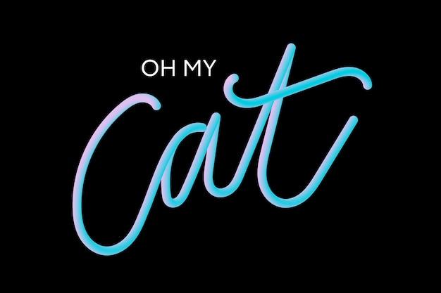 Slogan cat phrase graphic print fashion lettering calligraphy