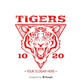 Slogan tiger background