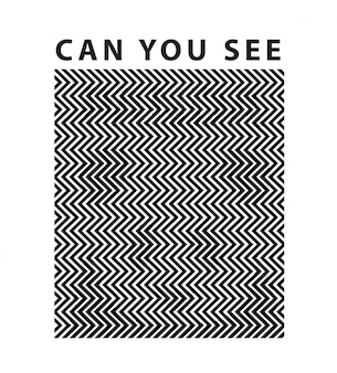 Slogan with panda hidden optical illusion concept
