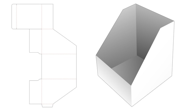 Slope storage box die cut template