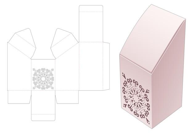 Наклонная коробка с шаблоном для трафарета мандалы