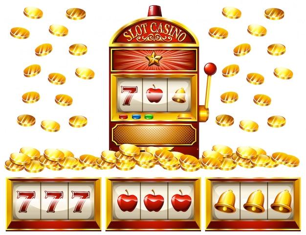 スロットマシンと黄金のコイン