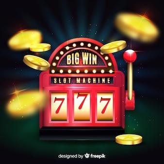 Игровой автомат big win concept в реалистичном стиле