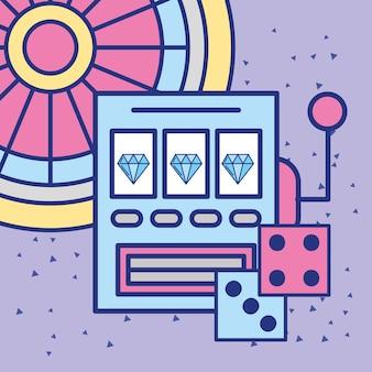 Slot machine casino craps and roulette gambling