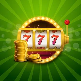 Игровой автомат казино неоновый джекпот Premium векторы