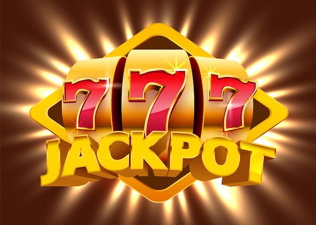 Slot machine coins wins the jackpot. 777 big win casino