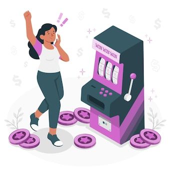 Illustrazione di concetto di slot machine