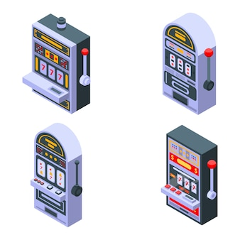Slot machine icons set