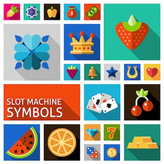 Набор символов игровых автоматов
