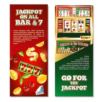 Slot machine vertical banners