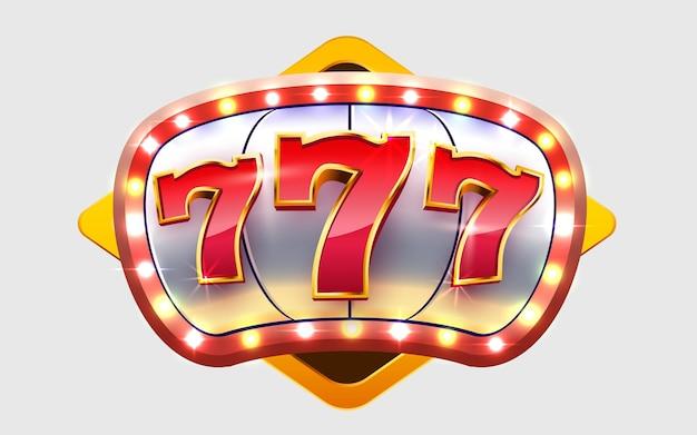 Slot machine wins the jackpot  big win casino concept