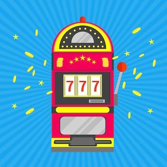 Игровой автомат с одной рукой, играющей над синими лучами
