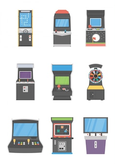 Slot machines icons pack