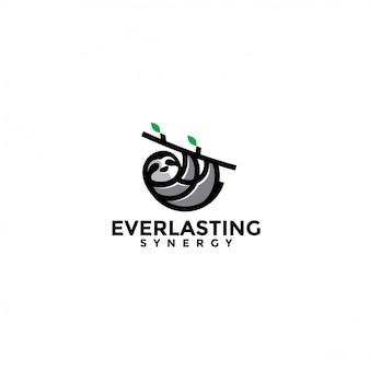 Ленивец дизайн логотипа