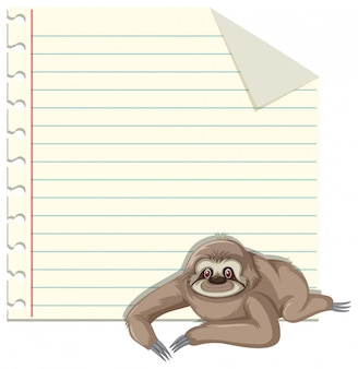 Sloth on note template